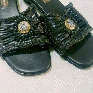 Brighton Brown Woven Leather RAJAH Sandals